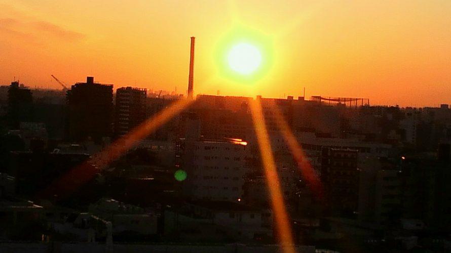 今日の朝陽!!