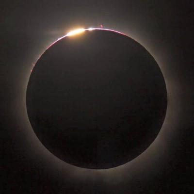 新月&皆既日食