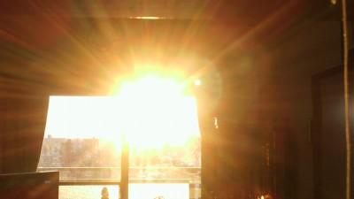 今日の朝陽・・・