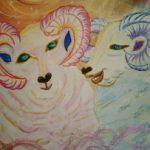 来年の干支羊さん描きました!(^^)!