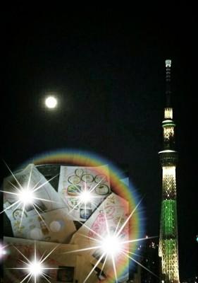 昨夜の満月・・・・